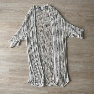 Crochet Cover Up Sweater S